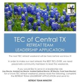 Retreat Team Leadership Applicatoin