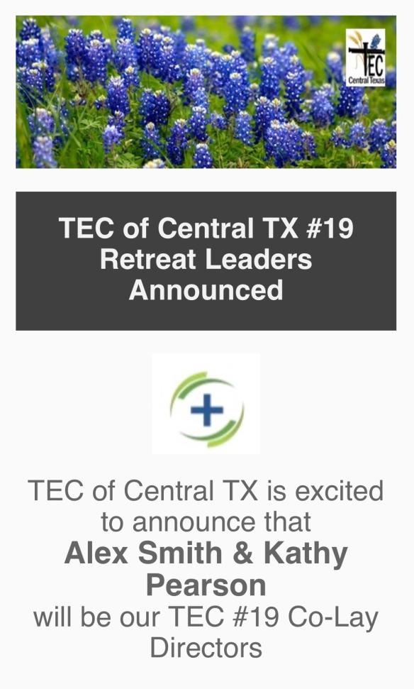 TEC #19 Leadership Announcement Photo