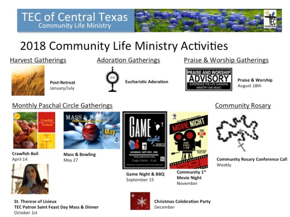 2018 Community Life Ministry Activities 0518