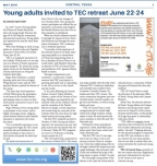 Catholic Spirit TEC Article 0518