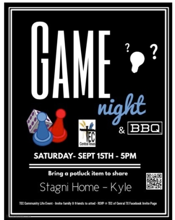 2018 TEC Game Night Flier 0918