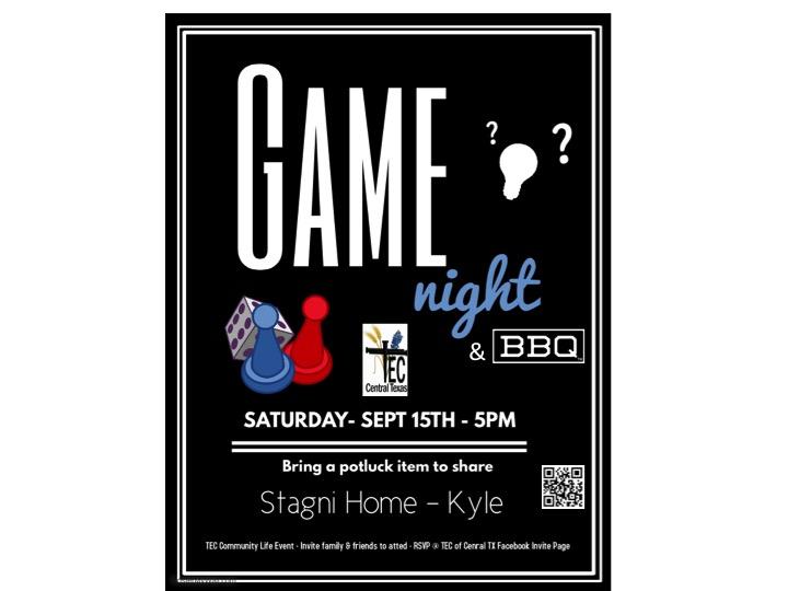 2018 TEC Game Night Flier 0918