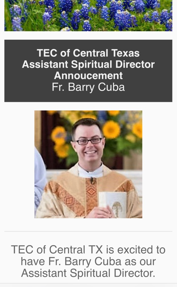 Fr Barry Cuba Announcement 1018